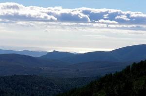 Peak of Santa Maria de Foix, 24 kilometers from the Mediterranean Sea