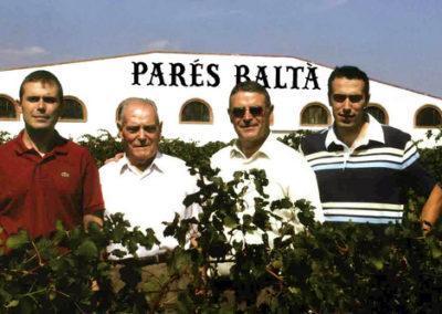 3 generacions de la família Cusiné a Parés Baltà