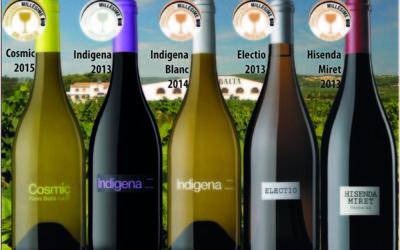 5 vinos de Parés Baltà premiados en el Concurso Internacional de vinos ecológicos Millésime Bio 2016
