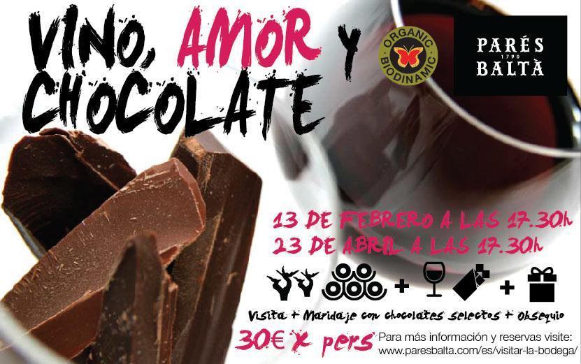 Vino y chocolate, maridaje con emociones en la bodega