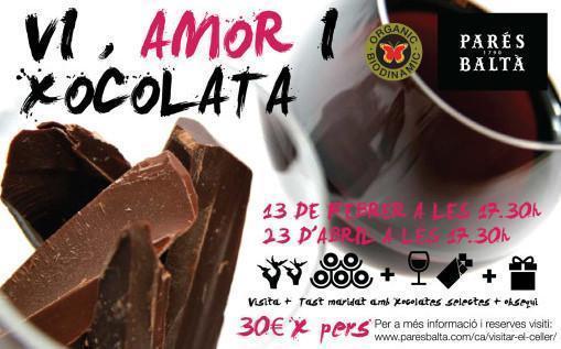 Vi i xocolata, maridatge amb emocions al celler