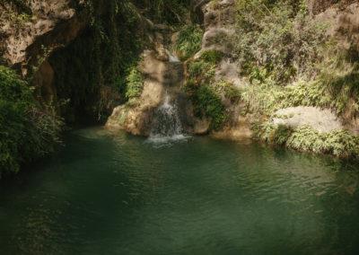 Small river at Parés Baltà Penedès Wine Region