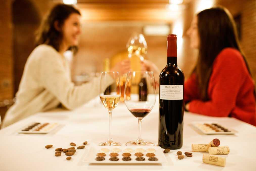 Maridaje de chocolate y vino en bodega Parés Baltà