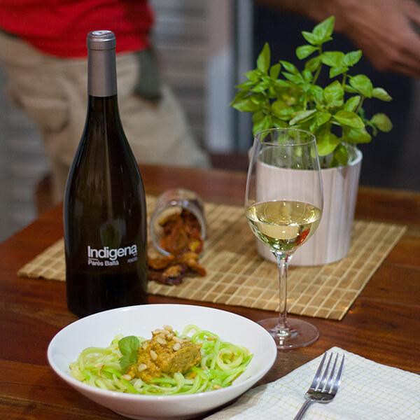 organic white wine indigena white grenache