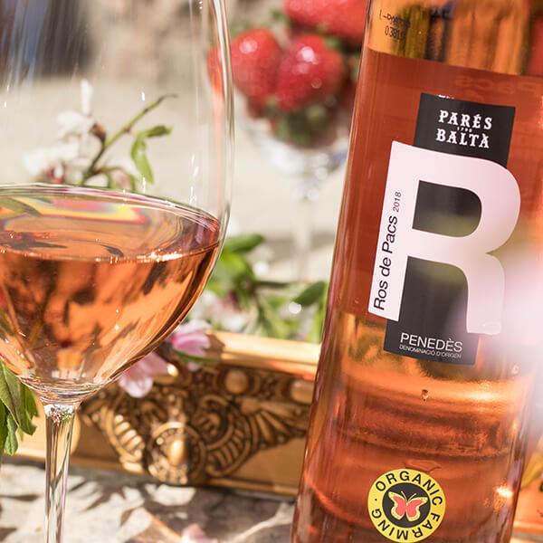 Parés Baltà Ros de Pacs vino rosado ecológico biodinámico del penedés